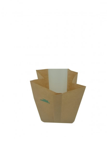 Fully Biodegradable WINDOW POUCH BAG GRIP HEAT SEAL FOR CATERING, PASTRY, FRUITS