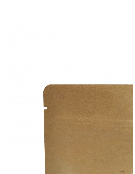Tear Notch Oval Window Kraft Paper Stand Up Pouch with Zip Lock