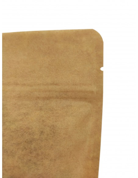 Kraft Paper Window Stand Up Sealable Pouch with Zip Lock
