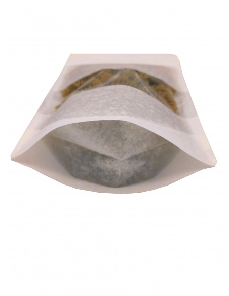 White Kraft Paper Window Stand Up Sealable Pouch with Zip Lock