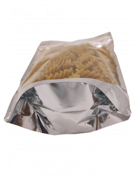 Mylar One Side Transparent Stand Up Pouch with Zip Lock