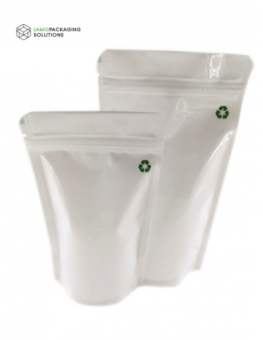 Recyclable White Stand Up Pouch With...