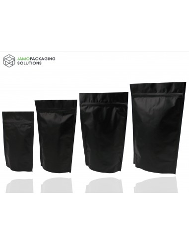 Black Matt Stand Up Pouch with Zip Lock