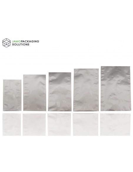 Silver Matt Flat Pouch / Sachet , Heat Seal Mylar Foil