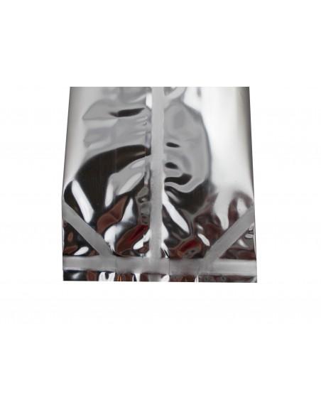 Window Side Gusset Pouch Silver