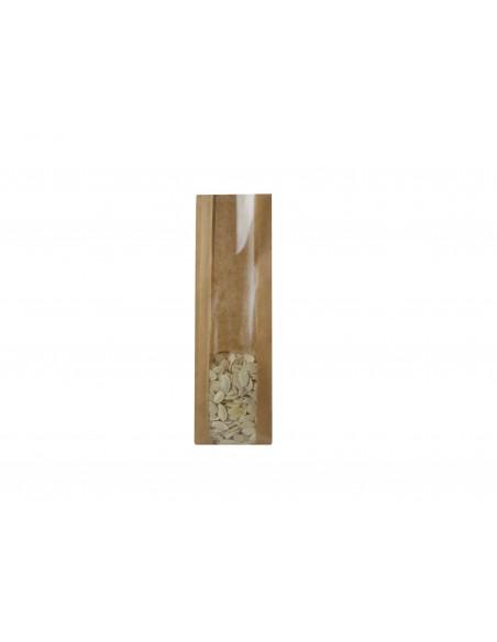 Heat Seal Kraft Brown Paper Bags - Window - Food Grade
