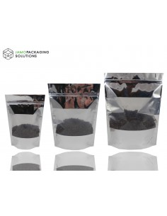 EXTRA THICK MYLAR STAND UP WINDOW BAGS/ SEALABLE POUCH/ZIPLOCK 1000 2000 3000 ml