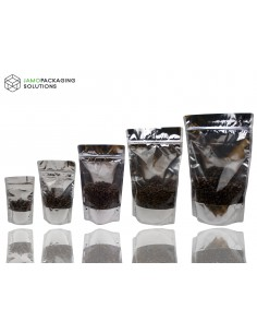 MYLAR STAND UP WINDOW BAGS/ SEALABLE POUCH/ZIPLOCK 100/250/500/750/1000 ML