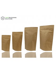 Extra Thick Kraft Paper Aluminium Stand Up Pouch with Zip Lock