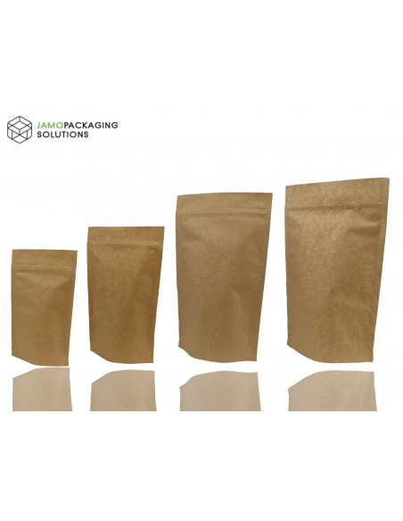 Stand Up Pouch with Kraft Paper and Aluminium, Extra Thick