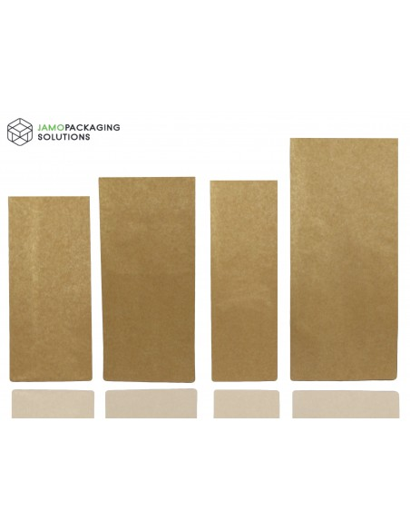 Kraft Paper and Aluminium Side Gusset Pouch for Tea and Coffee