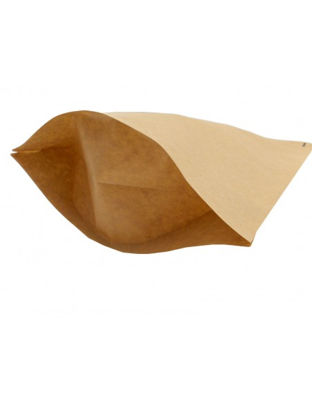 KRAFT PAPER BAG/ POUCH STAND UP SEALABLE | COFFEE | SEEDS NUTS GRIP HEAT SEAL