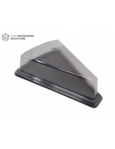Clear Plastic Take-Out Triangle Cake Cheese Food Sandwich Container/ Carry Box