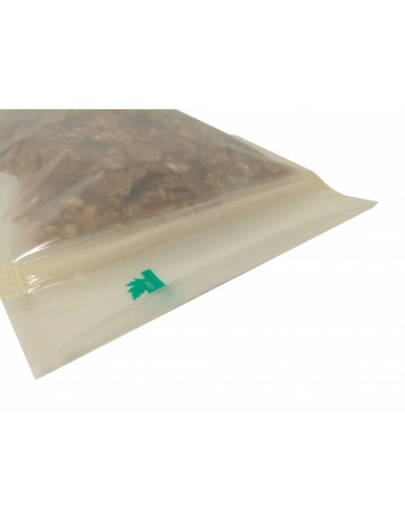 Fully Biodegradable BIO Stand Up Translucent Pouch with Zip Lock Heat Seal