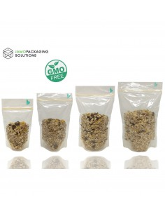 Fully Biodegradable Stand Up Pouch Transparent